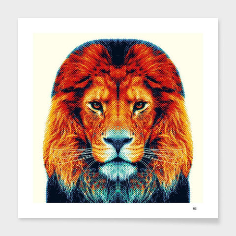 Image of Lion - Colorful Animals  Cushion/Pillow
