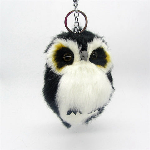 Image of Cute Fluffy Owl Keychain