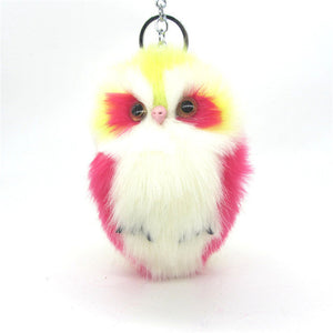 Cute Fluffy Owl Keychain