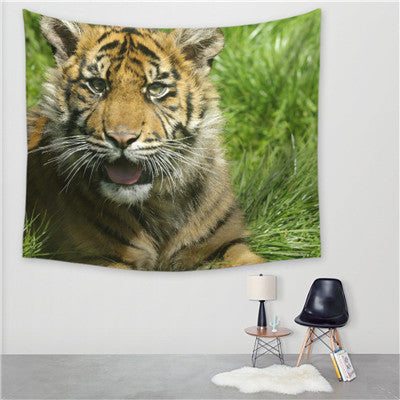 Image of Tiger Tapestry Wall Hanging