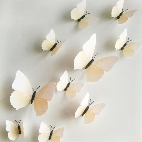12pcs 3D Fridge Butterfly Decor Wall Stickers