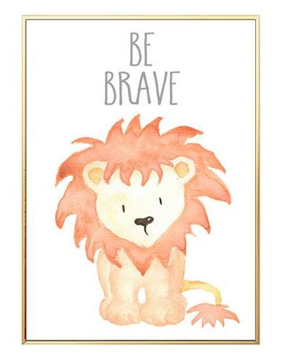 Watercolor Painting Lion Print