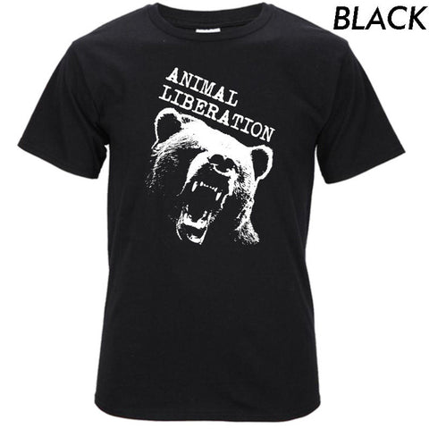 Image of 100% Cotton Bear Print Men's T Shirt