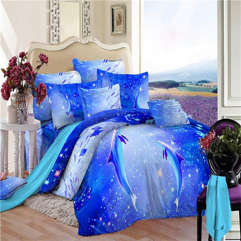 Image of Dolphin Queen Duvet Cover