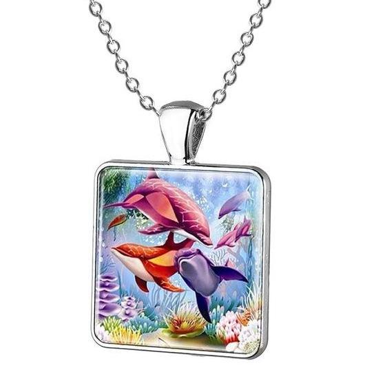 Cartoon Dolphin Pendant