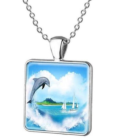 Image of Cartoon Dolphin Pendant