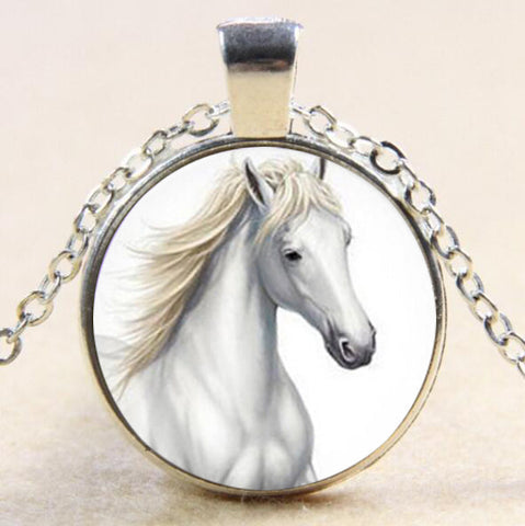 Image of White Horse Pendant