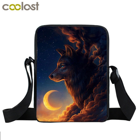 Image of Galaxy Wolf Messenger Bag