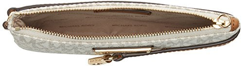 MICHAEL Michael Kors Signature Jet Set Item Medium Wristlet, Color 150 Vanilla White Hardware