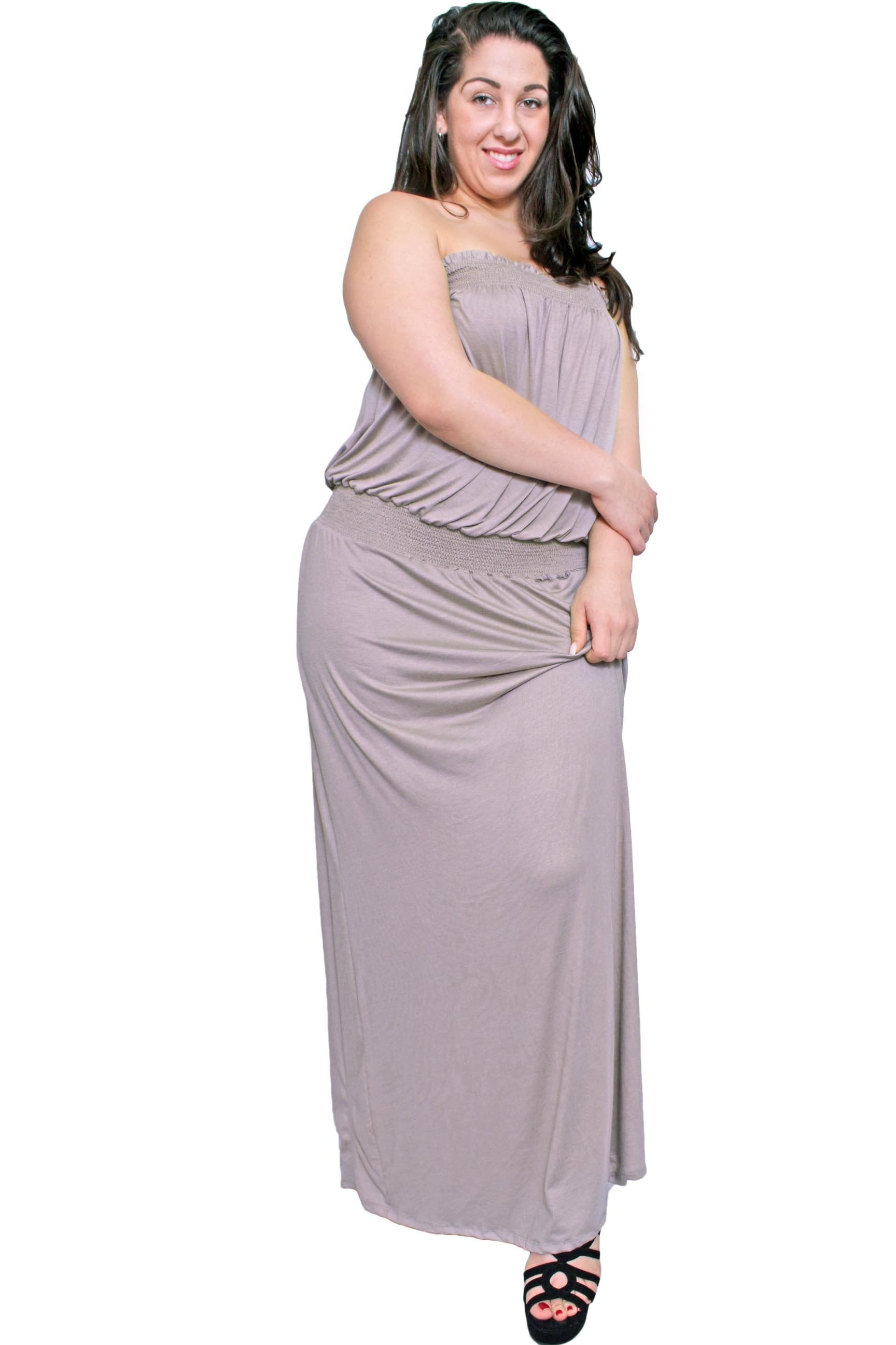 Plus Size Women's Smocked Maxi Dress