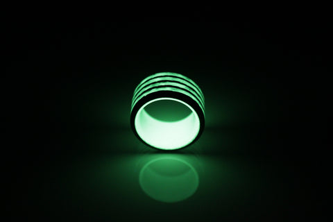 Green Saturn Carbon Fiber Ring