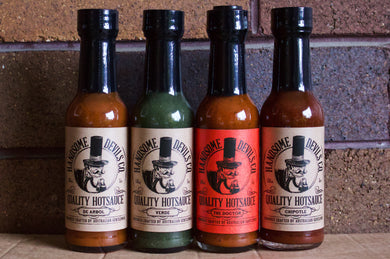 150ml HOT SAUCE 4 PACK. FREE SHIPPING.