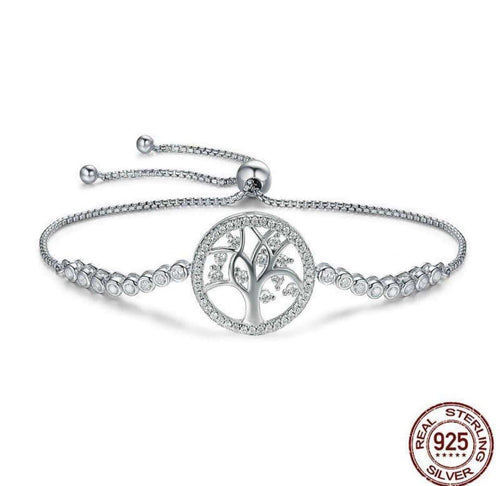 Tree of Life In Crystal - Origin Silver