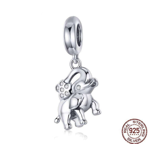 Happy Elephant Animal - Origin Silver
