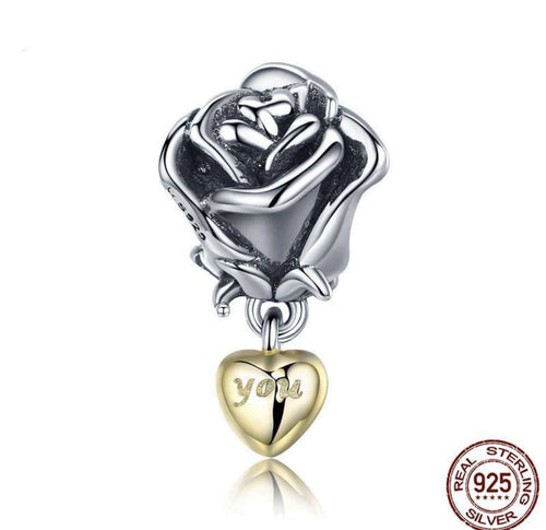 Rose with You in Heart - Origin Silver