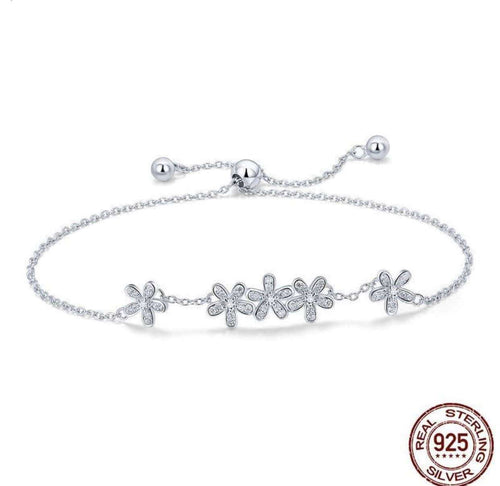 Luminous Daisy Flowers - Origin Silver