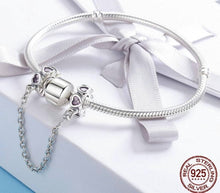 Charger l'image dans la galerie, Sweet Inspiration, Pink Heart Safety Chain Stopper Charm - OriginSilver