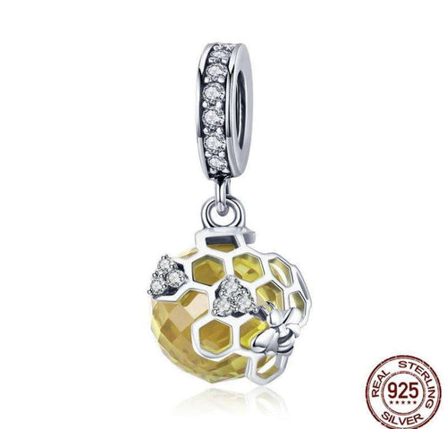 Honeycomb Bee - Origin Silver