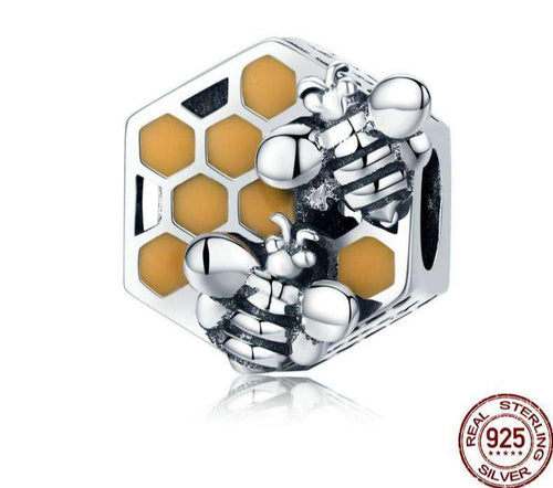 Honeycomb Honey Bee - Origin Silver