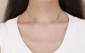 Sparkling Moon and Star Exquisite Pendant Necklaces Chokers