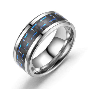 Ring Stainless Steel 8mm / 7  different type of rings - Origin Silver