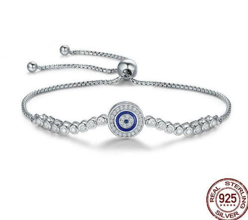 Blue Eye Tennis Bracelet