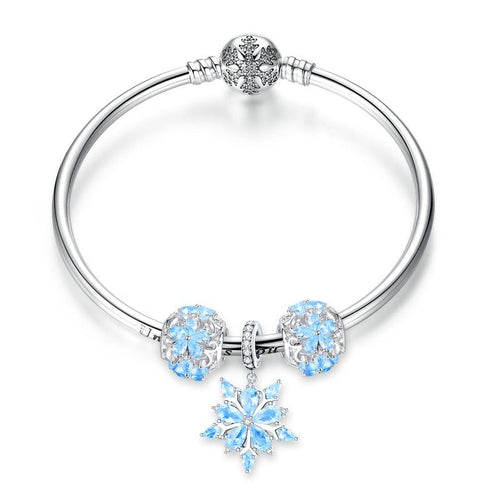 Winter Snowflake Princess Bangle