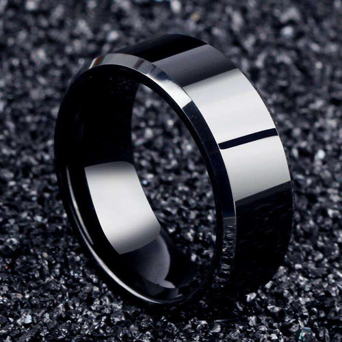 Ring stainless steel Black, Gold or Silver - Origin Silver