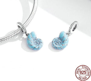 Cute Blue Conch Pendant