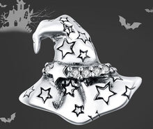 Load image into Gallery viewer, Halloween Witch Hat silver