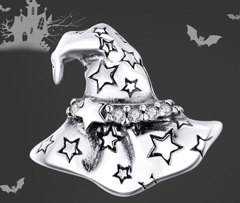 Halloween Witch Hat silver