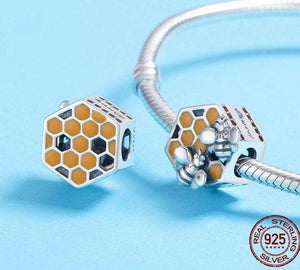 Honeycomb Honey Bee - OriginSilver