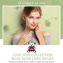 Load image into Gallery viewer, Animal Collection Little Bear with Love Hug Charm - OriginSilver