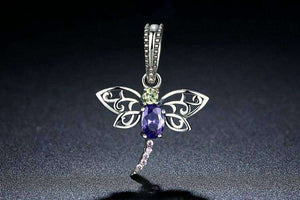 Dragonfly Insects Purple - OriginSilver