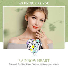 Load image into Gallery viewer, Rainbow Heart - OriginSilver
