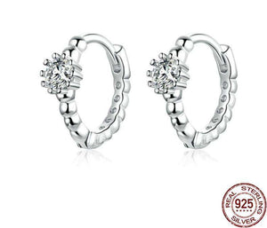 Silver Wedding Ear Hoops - OriginSilver