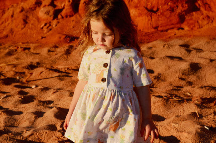 Little Kimberley Boab Flower Dress