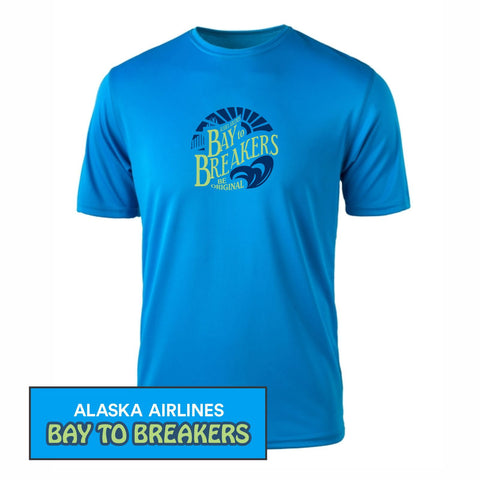 Bay to Breakers 'Round' Men's SS Tech Tee - Azure - by Zorrel
