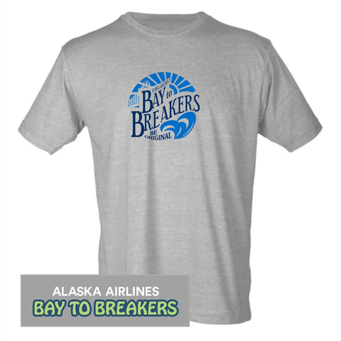 Bay to Breakers 'Round' Men's SS Lifestyle Tee - Heather Grey
