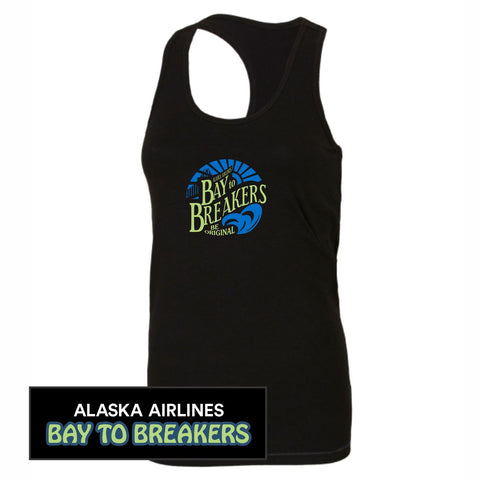 Bay to Breakers 'Round' Women's Racerback Tri-Blend Bamboo Singlet - Black - by All Sport