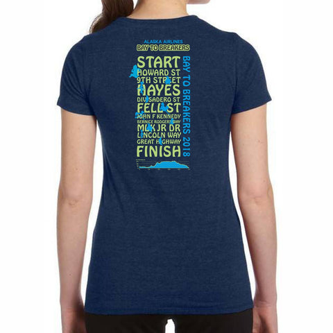 '2018 Directions' Women's SS Tri-Blend Tee - Navy - by All Sport