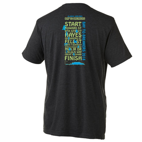 '2018 Directions' Men's SS Tri-Blend Tee - Charcoal Black - by Canvas