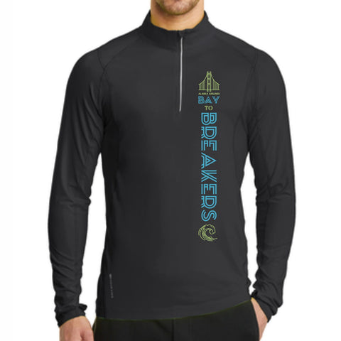 Bay to Breakers 'Left Chest Print' Men's Tech Pullover 1/4 Zip - Blacktop - by OGIO
