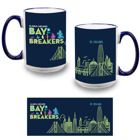 'Event Logo' Full Color Ceramic 15 oz Mug - Navy