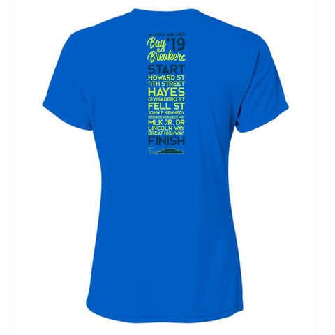 Women's Tech SS Tee - Royal '2019 Directions'