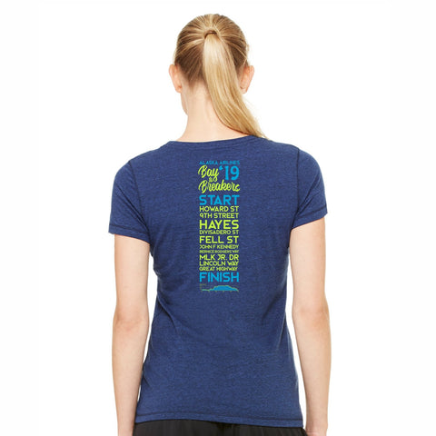 Women's Triblend SS Tee - Navy '2019 Directions'