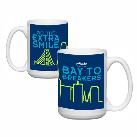 Ceramic 15 oz. Full Color Mug - Navy - 'Go the Extra Smile'