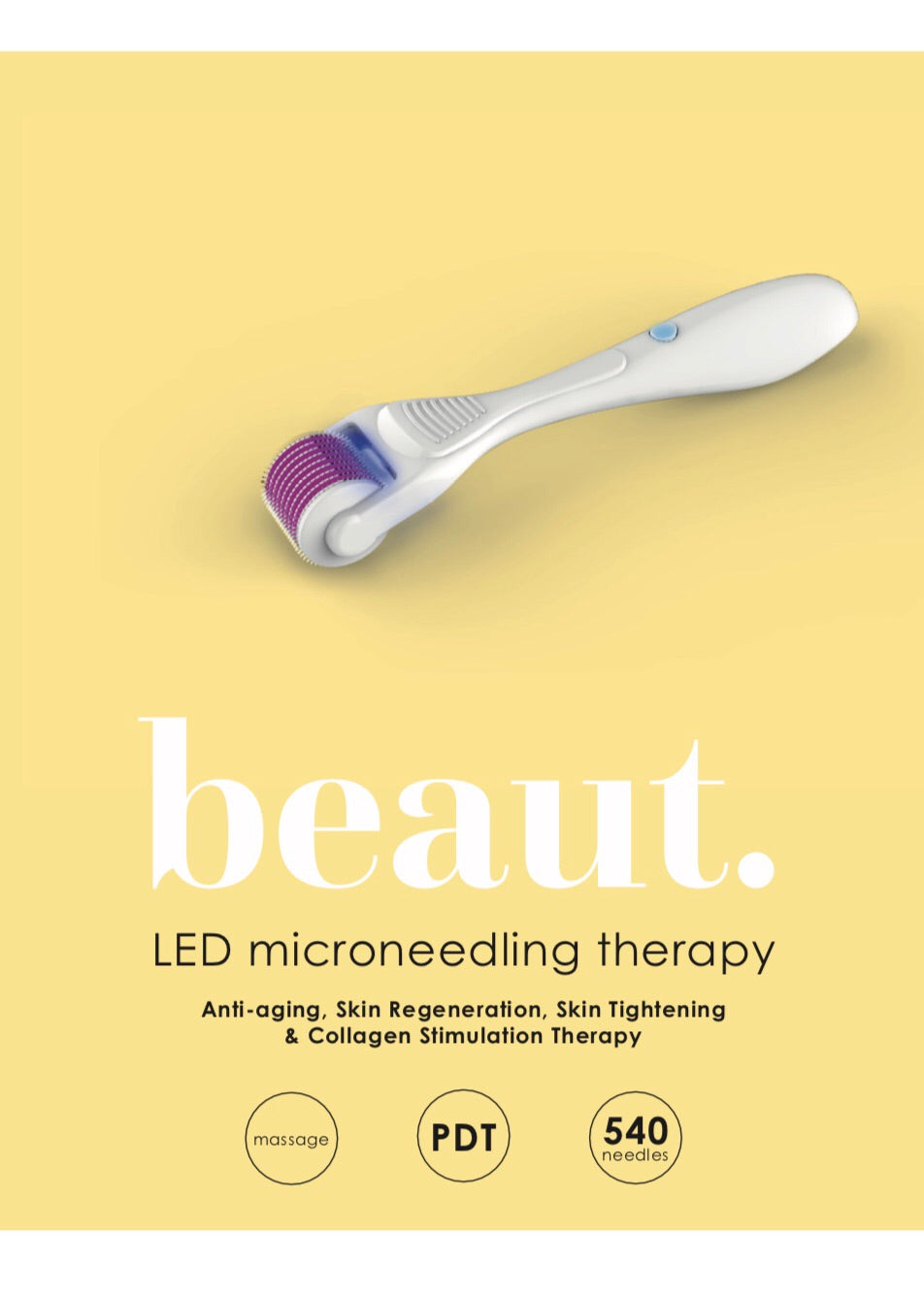 SKIN by beaut.beautyco LED microneedling therapy tool-5 LIGHT Therapy options