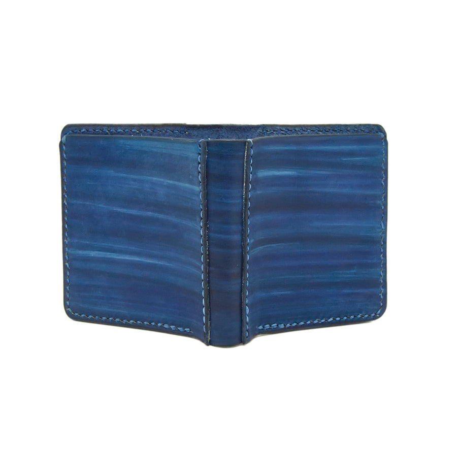 No. 11 - ROYAL BLUE Leather Wallet - Handstitched
