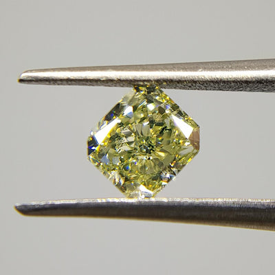 0.63 Carat RADIANT Shape YELLOW Color Diamond - VMK Diamonds